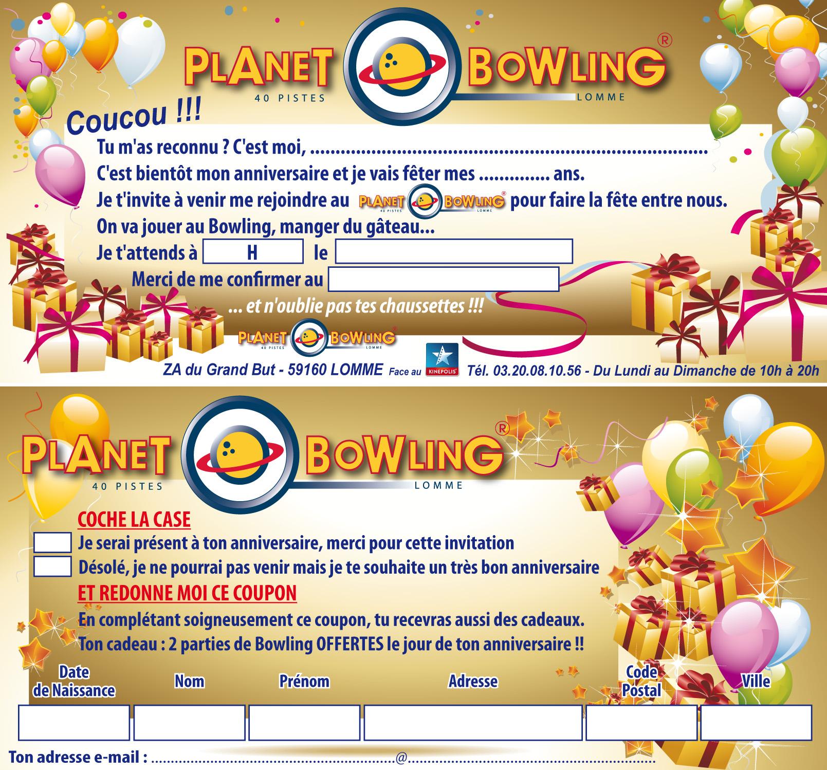 Formules Anniversaires Bowling à Lille pour enfants et adultes - Planet Bowling